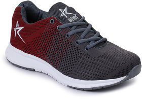 Refoam Men's Mahroon Flyknit Lace Up Running Sports Shoes