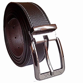 Sunshopping Men Black Pin Buckle Leatherite Belt (Synthetic leather/Rexine)