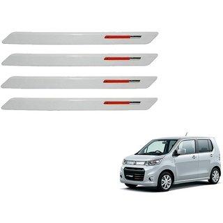 Auto Addict White Red Designer Bumper Protector Set of 4 Pcs For Maruti Suzuki WagonR Stingray