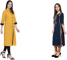 The Laila Kurti Combo Pack Material Both : Cotton Made, Fine Stitched well Finished