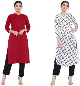 The Laila Kurti Combo PackMaterial Both : Cotton Made, Fine Stitched well Finished