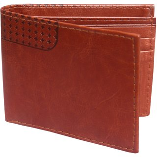 fashlook mens tan wallet (Synthetic leather/Rexine)