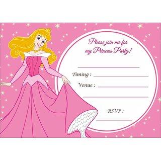 Bikri Kendra Birthday Invitations Metallic Card 50 Cards Kids Birthday Party Invitations For Boys Or Girls Bk 66