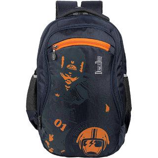 Dussledorf 30 Ltr navy Blue Polyster Water resistant  Backpack With Adjustable Strap