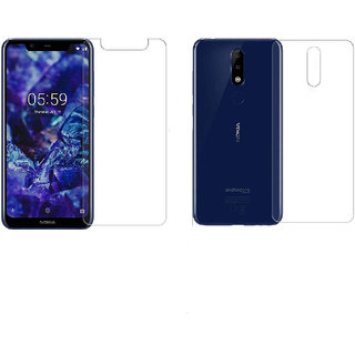 Nokia 5.1 Plus Front  Back Unbreakable Screen Protector with Hammer Proof Protection Impossible Screen Guard Scratch Resistant