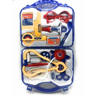 Jain Gift Gallery Doctor Plastic Playset Kit with Foldable Suitcase, Compact Medical Accessories Toy Set Pretend Play Ki