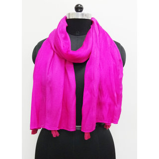 Belleziya Viscose Solid Print Women Scarves  Latest Arrival  New Style  Vintage Look Scarf  Pink Color.