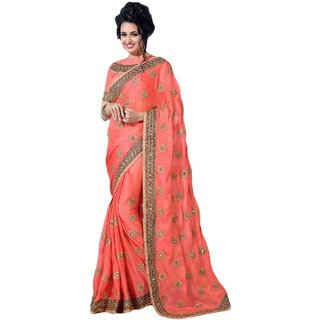 c45f18d40a5 Buy Tiana Creation Chinnon Silk Embroidered Saree Online - Get 65% Off