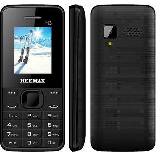 HEEMAX H3  (Dual Sim, 1.8 Inch Display, 1000 Mah Battery, 1 YEAR WARRANTY, Made In India ) BLACK