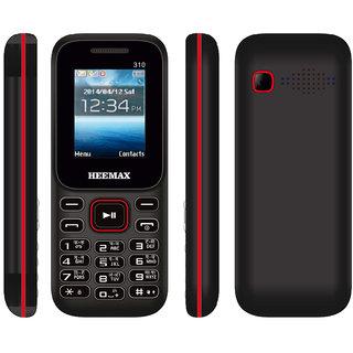 HEEMAX P310 (Dual Sim, 1.8 Inch Display) Black & Red