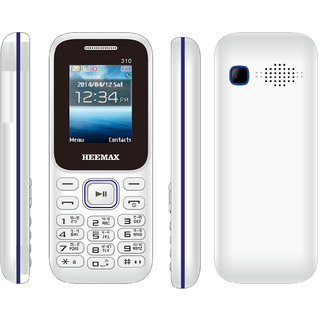 HEEMAX P310  (Dual Sim, 1.8 Inch Display, 1000 Mah Battery, 1 YEAR WARRANTY, Made In India ) WHITE DARKBLUE