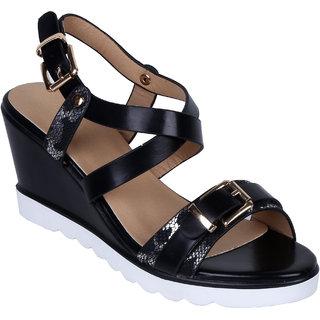 4e8574a254b Buy Notion London Cross Strap Wedge Heel Sandal Online - Get 55% Off