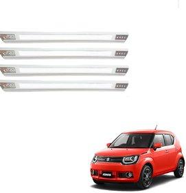 Auto Addict Car Designer White Dotted Bumper Protector Guard For Maruti Suzuki Ignis