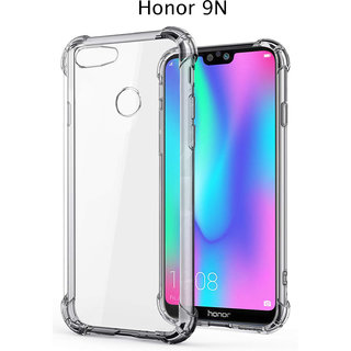 Honor 9N - Anti-Knock Design Shock Absorbent Bumper Corners Soft Silicone Transparent Back Cover - Honor 9N