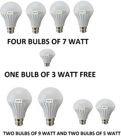 HFK PACK OF 8  LED BULB WITH FREE ONE 3 WATT BULB WITH SIX MONTHS REPLACEMENT WARRANTY