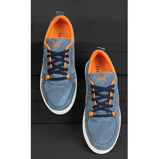 Groofer Men's Blue  Orange Casual Shoes