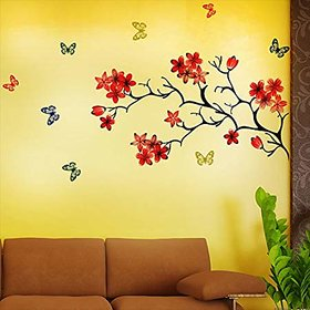 EJA Art Chinese Flower With Butterfly