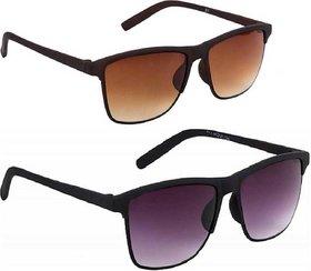 Adrian Wayfarer Sunglasses(Brown,Black)