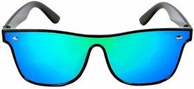 Adrian Blue UV Protection Full Rim Shield Men's Sunglasses