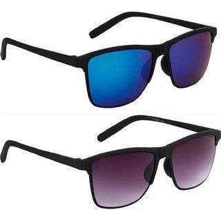 Adrian Wayfarer Sunglasses(Blue, Black)