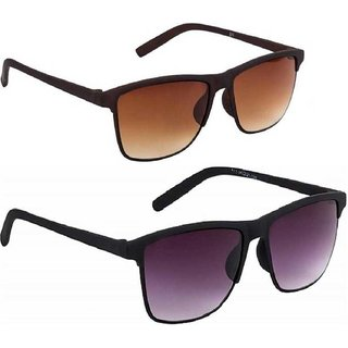 Adrian Wayfarer Sunglasses(Brown,Black)