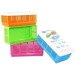 gayatri 4pc Flexi Fold Space Saving Multipurpose Box Storage Basket (small)