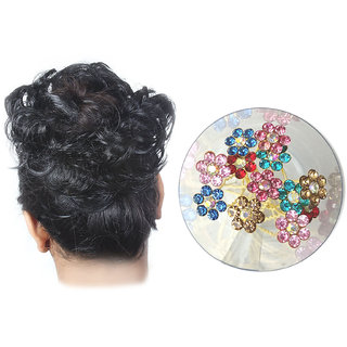 GadinFashion Pack of 1 New Fashion Black Rubber Juda and 12 Stylish Hair Juda Pin Hair Accessories