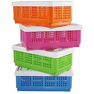 gayatri 3pc Flexi Fold Space Saving Multipurpose Box Storage Basket (big)