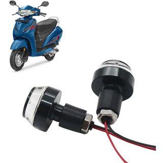 Bike Turn Signal LED Handle Bar Light for Honda Activa i ( White  Blue )