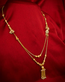 Luxor Fashion Ethnic Traditional Gold Tone Designer Beads Mangalsutra for Women