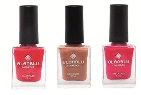 Formal Affair Tarnished Copper and Lilac Fling 9.9ml Each Elenblu Matte Nail Polish Set of 3 Nail Polish