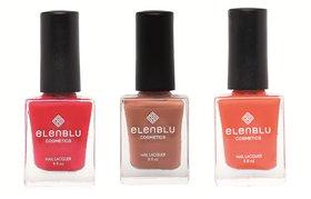 Formal Affair Tarnished Copper and Roseate Blush 9.9ml Each Elenblu Matte Nail Polish Set of 3 Nail Polish