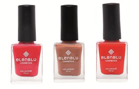 Formal Affair Tarnished Copper and Wicked 9.9ml Each Elenblu Matte Nail Polish Set of 3 Nail Polish