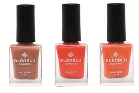 Tarnished Copper Brickola And Rustic Decay 9.9ml Each Elenblu Matte Nail Po