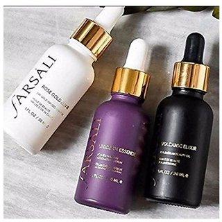 Buy Farsali 24K Rose Gold Elixir+Unicorn Essence+ Volcanic Elixir Face Serum SPF 15 30 ml(combo of 3) Online - Get 48% Off