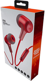 Original audio Bass Quality Wired Earphones with Mic for Mobile with Have 3.5 mm Jack (Red)