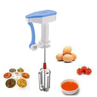 3518bb0a633 55%off Egg Beater Lassi Butter Milk Maker ABS Plastic Mixer Hand Blender  without Power (Blue 32x13cm
