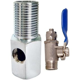 PBROS 1 Pices RO Brass Steel Inlet Set Water Filter Valve Set 1/4 Size Pipe