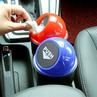 sell net retail  Mini Auto Car Office Home Waste Trash Rubbish Bin Car Dustbin pack of 2