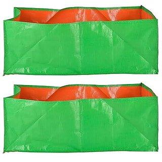 A1ezone Plastic Terrace Gardening Grow Bag Pack of 2 (24x12x12)