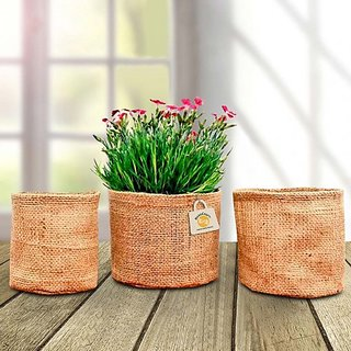 Jute grow-bag-for-plants - pack of 3