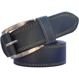 Sunshopping men's black leatherite needle pin point buckle belt
