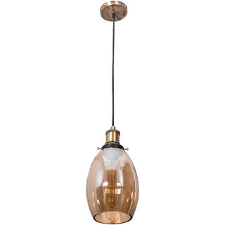 Fos Lighting Contemporary Lustrous Oval Glass Hanging Light