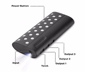 Omnitex New Dotted Fast Charge 15000 Mah Power Bank
