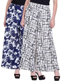 Pack of 2 Multicolor Printed Women Palazzo by Omikka Creation