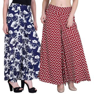 Pack of 2 Lili Crepe Printed Palazzo for Women
