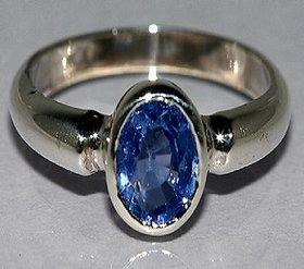 Blue Sapphire Neelam Ring Natural  certified stone neelazma silver ring 5.00 ratti Jaipur Gemstone