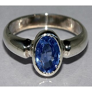 Blue Sapphire Neelam Ring Natural  certified stone neelazma silver ring 5.00 ratti Jaipur Gemstone