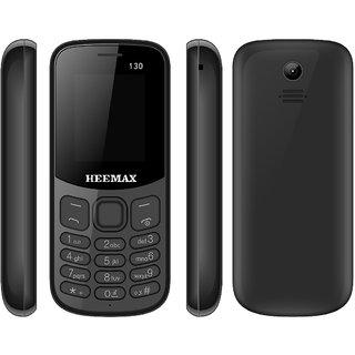 HEEMAX P130 (Dual Sim, 1.8 Inch Display, 1000 Mah Battery, 1 YEAR WARRANTY, Made In India )BLACK