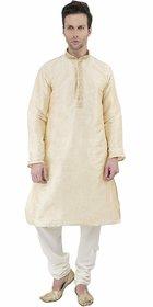 Men's Dupion Art Silk Traditional Party Wear Kurta Pajama